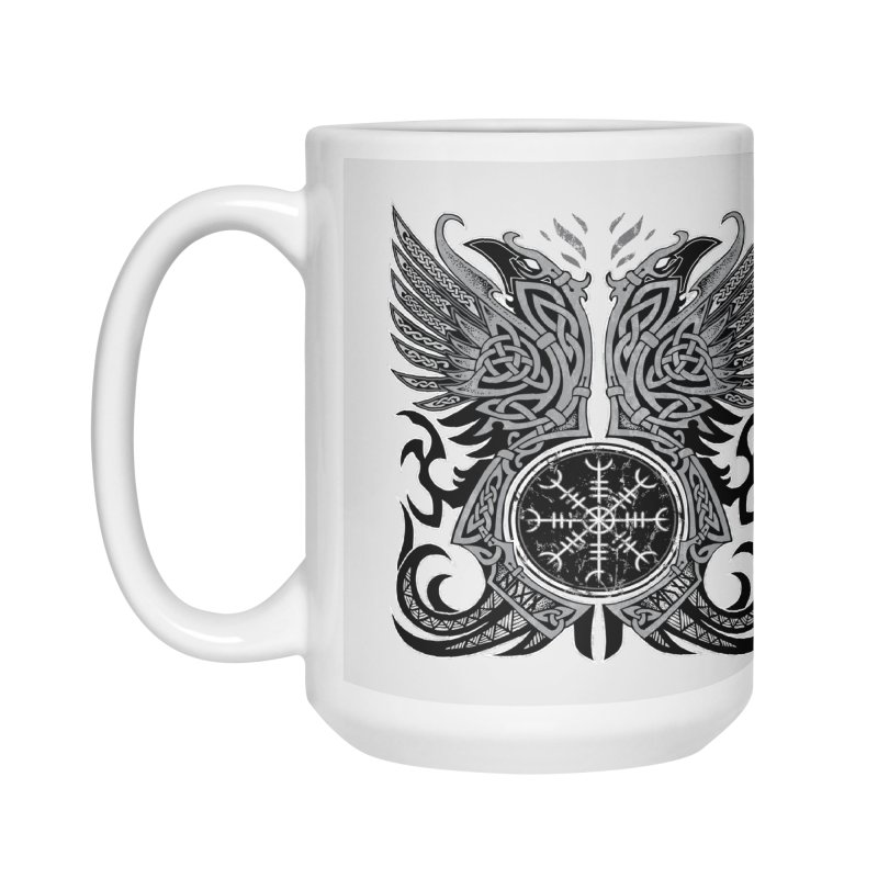 Huginn & Muninn, Odin's Ravens Accessories Mug by Celtic Hammer Club