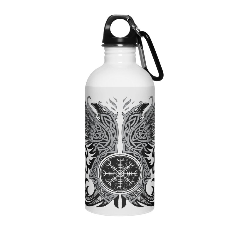 Huginn & Muninn, Odin's Ravens Accessories Water Bottle by Celtic Hammer Club