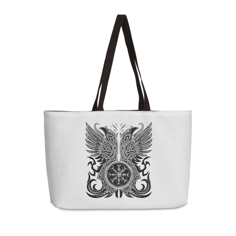 Huginn & Muninn, Odin's Ravens Accessories Weekender Bag Bag by Celtic Hammer Club