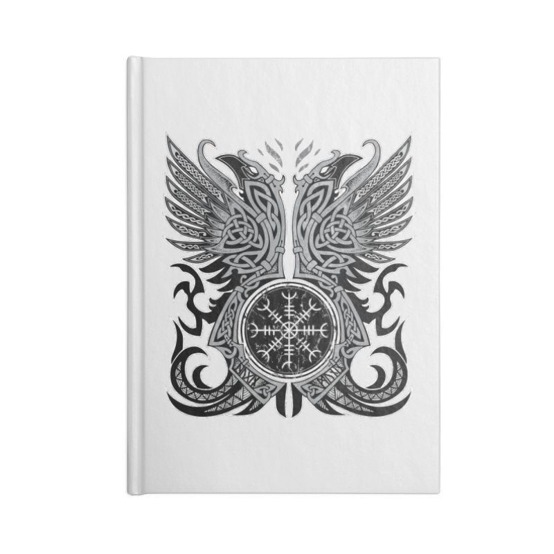 Huginn & Muninn, Odin's Ravens Accessories Notebook by Celtic Hammer Club
