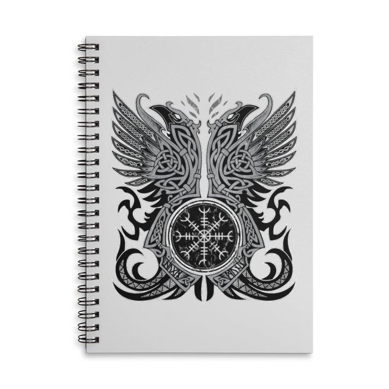 Huginn & Muninn, Odin's Ravens Accessories Lined Spiral Notebook by Celtic Hammer Club