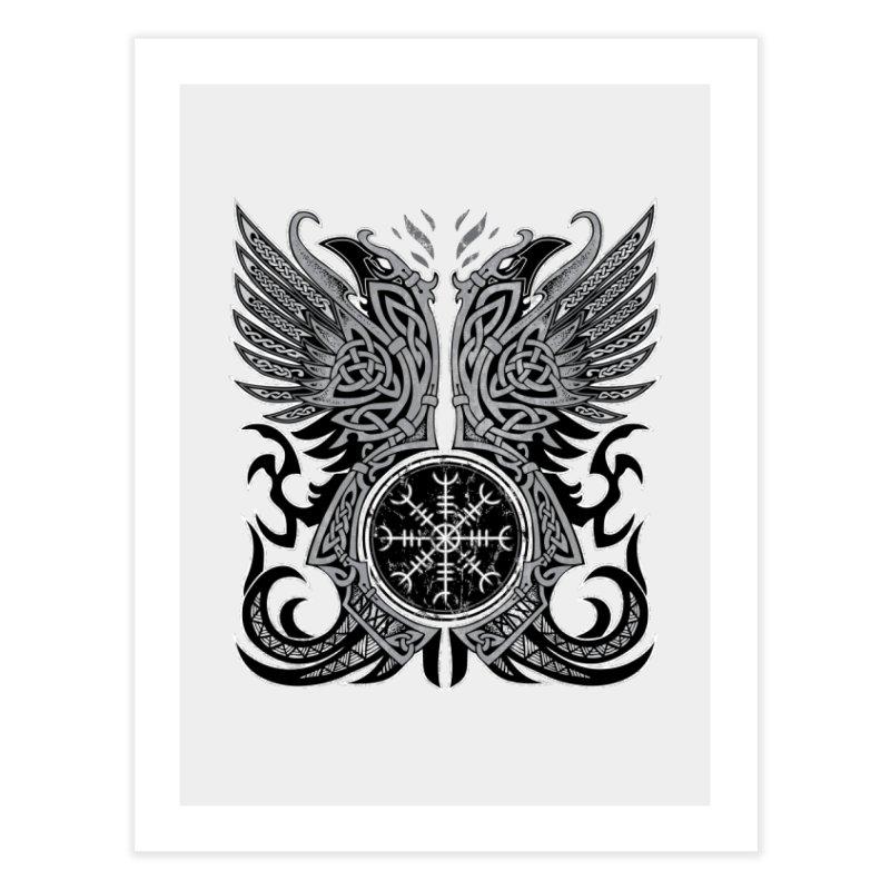 Huginn & Muninn, Odin's Ravens Home Fine Art Print by Celtic Hammer Club
