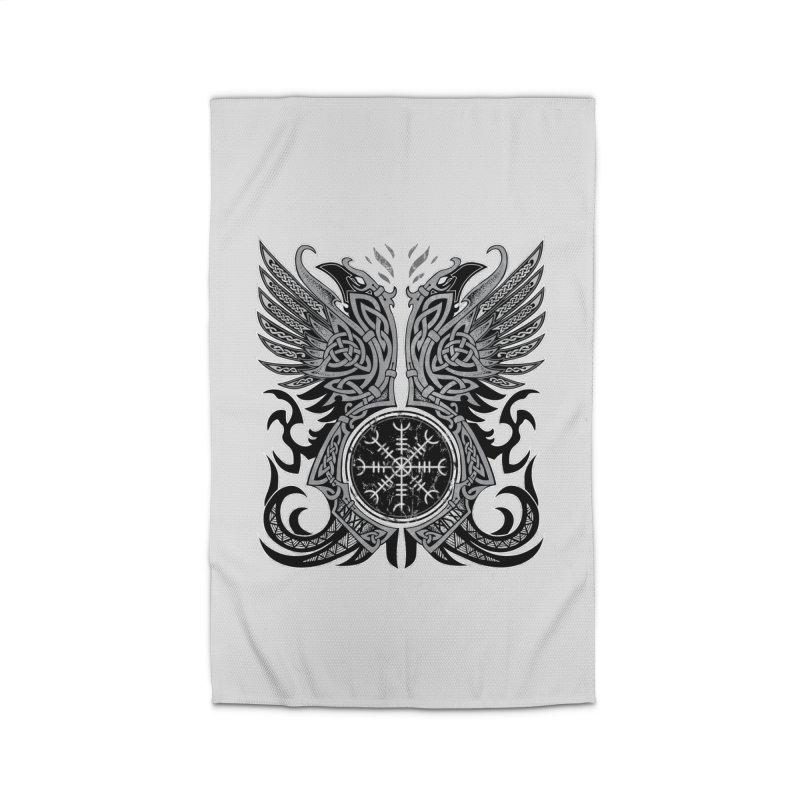 Huginn & Muninn, Odin's Ravens Home Rug by Celtic Hammer Club