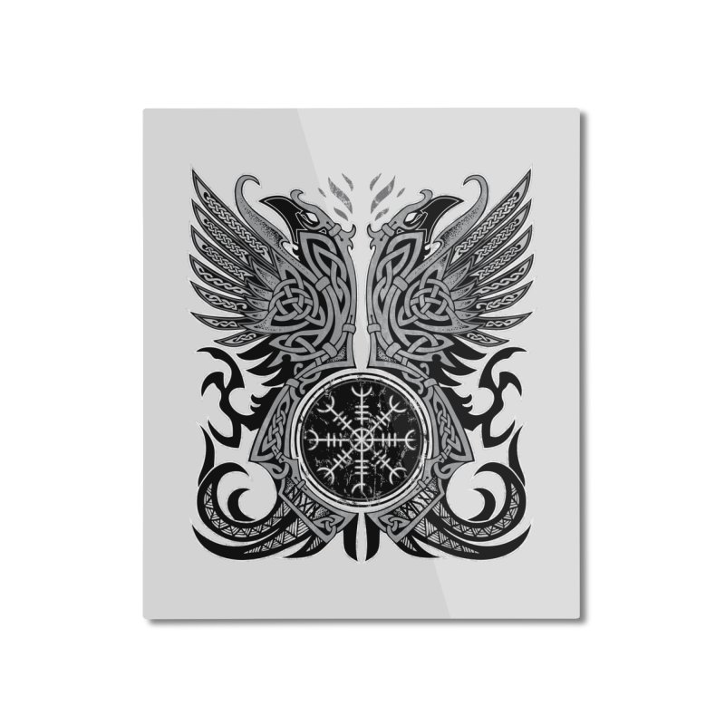 Huginn & Muninn, Odin's Ravens Home Mounted Aluminum Print by Celtic Hammer Club