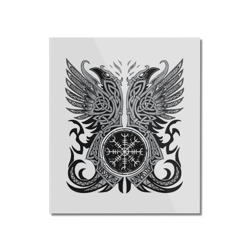 Huginn & Muninn, Odin's Ravens Home Mounted Acrylic Print by Celtic Hammer Club