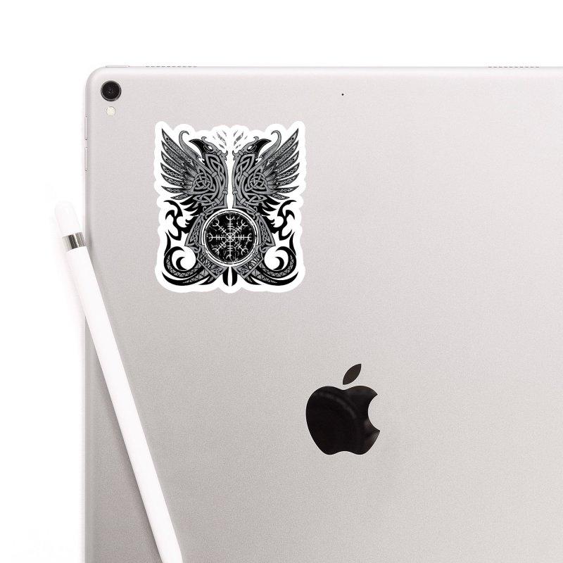 Huginn & Muninn, Odin's Ravens Accessories Sticker by Celtic Hammer Club