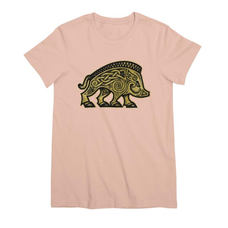 Boar War Pig Women's Premium T-Shirt by Celtic Hammer Club
