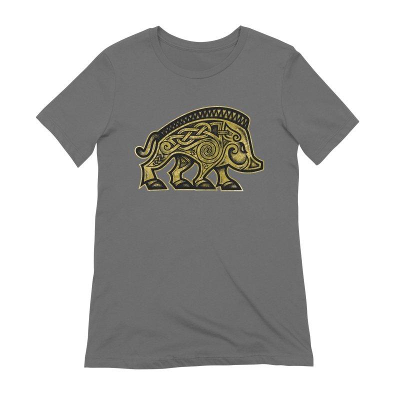 Boar War Pig Women's Extra Soft T-Shirt by Celtic Hammer Club