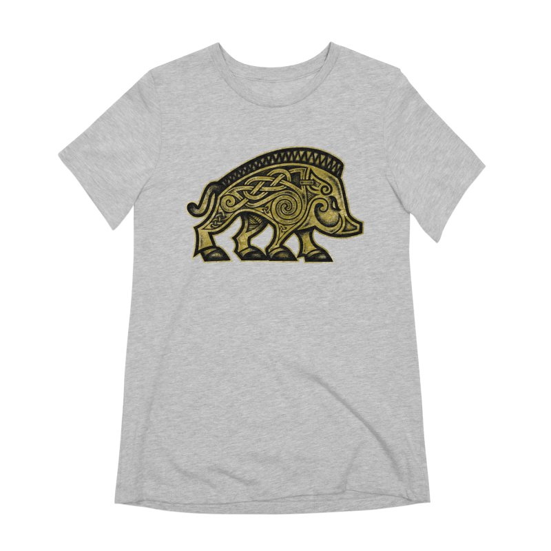 Boar War Pig Women's Extra Soft T-Shirt by Celtic Hammer Club