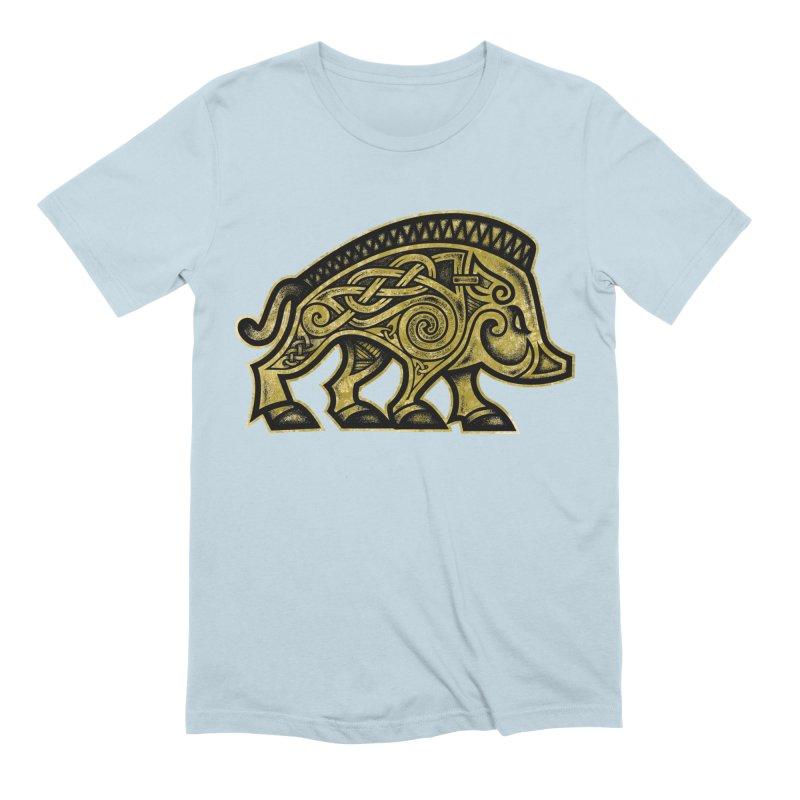 Boar War Pig Men's Extra Soft T-Shirt by Celtic Hammer Club