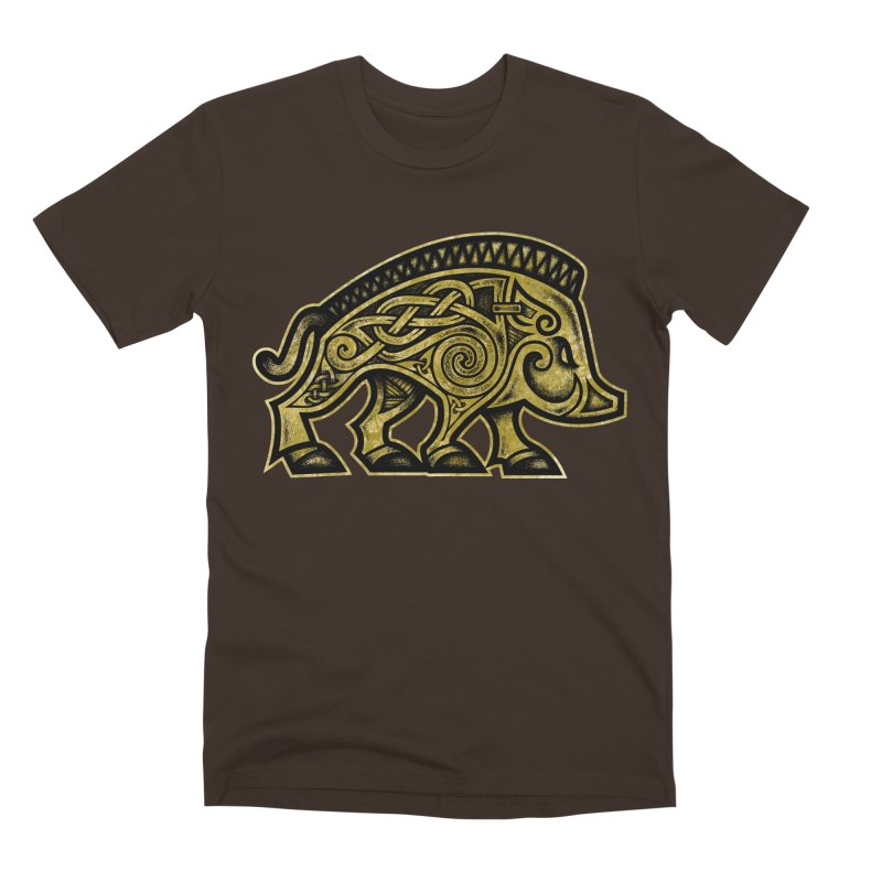 Boar War Pig Men's Premium T-Shirt by Celtic Hammer Club