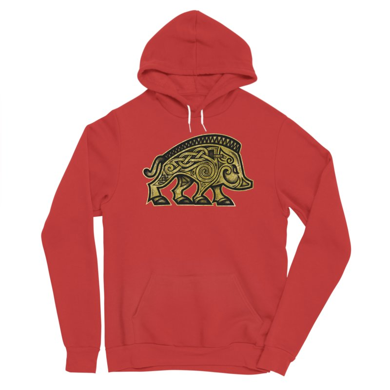 Boar War Pig Men's Pullover Hoody by Celtic Hammer Club