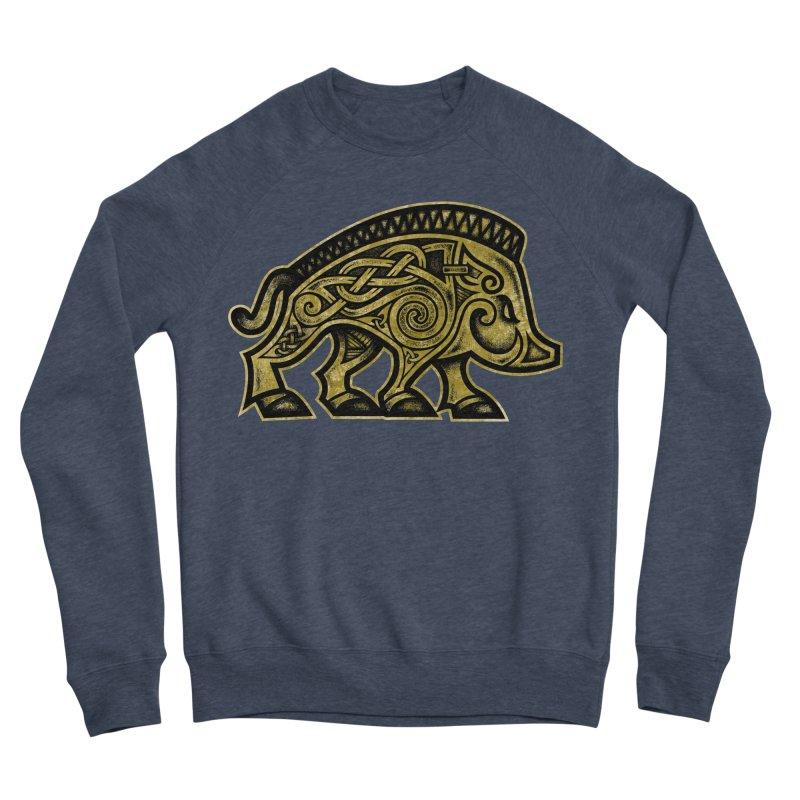 Boar War Pig Men's Sponge Fleece Sweatshirt by Celtic Hammer Club