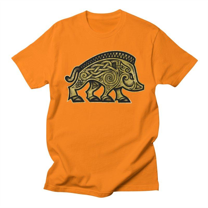 Boar War Pig Men's T-Shirt by Celtic Hammer Club