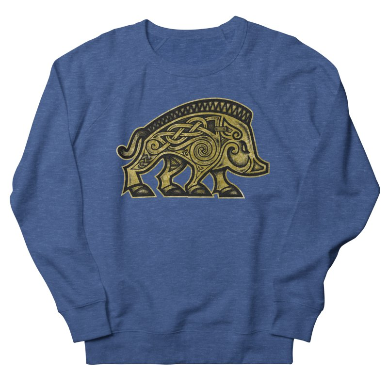 Boar War Pig Men's Sweatshirt by Celtic Hammer Club