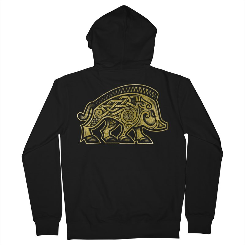 Boar War Pig Women's French Terry Zip-Up Hoody by Celtic Hammer Club