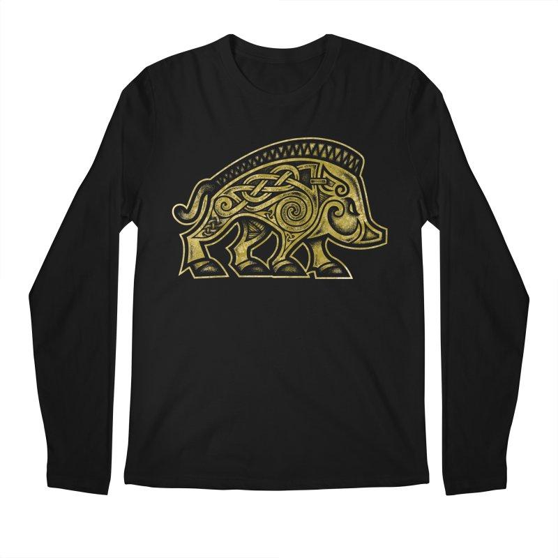 Boar War Pig Men's Regular Longsleeve T-Shirt by Celtic Hammer Club