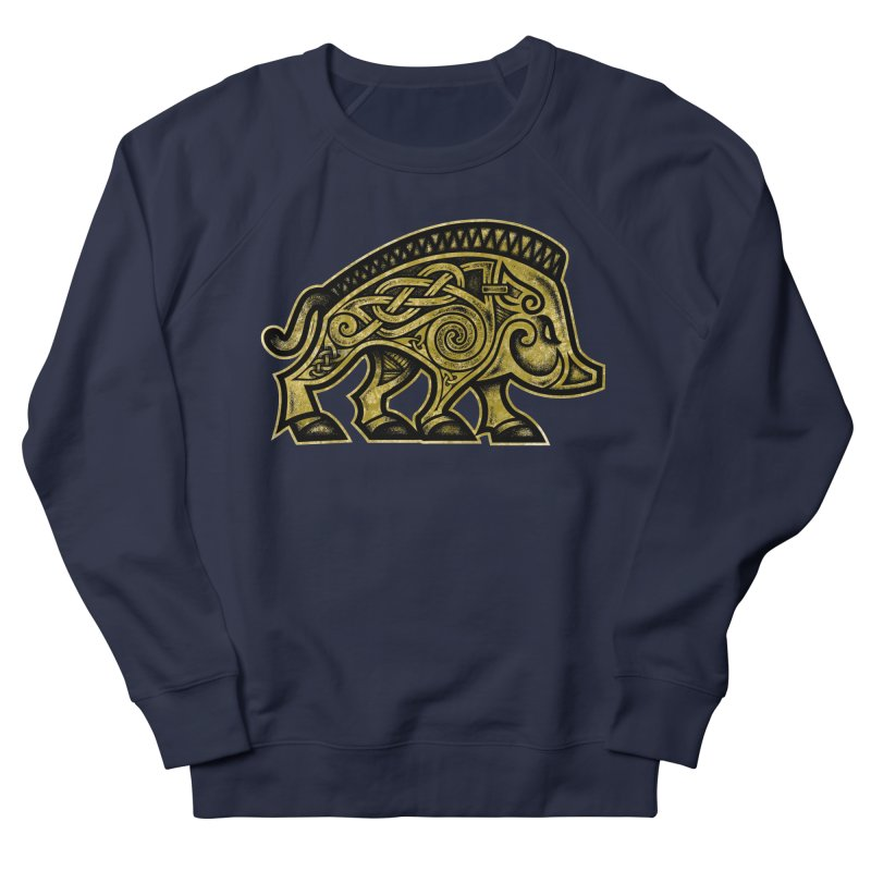 Boar War Pig Men's French Terry Sweatshirt by Celtic Hammer Club