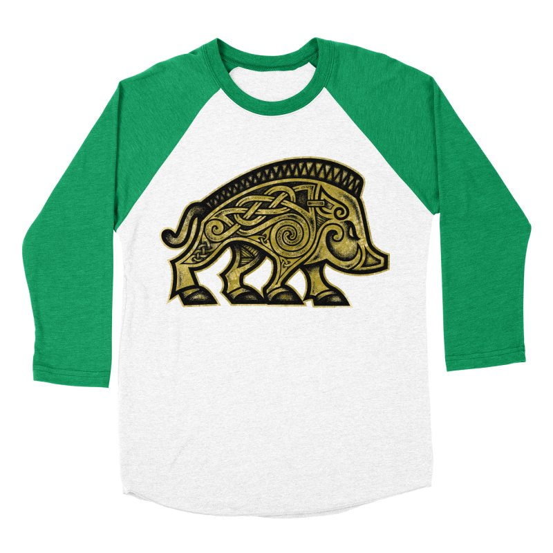 Boar War Pig Women's Baseball Triblend Longsleeve T-Shirt by Celtic Hammer Club