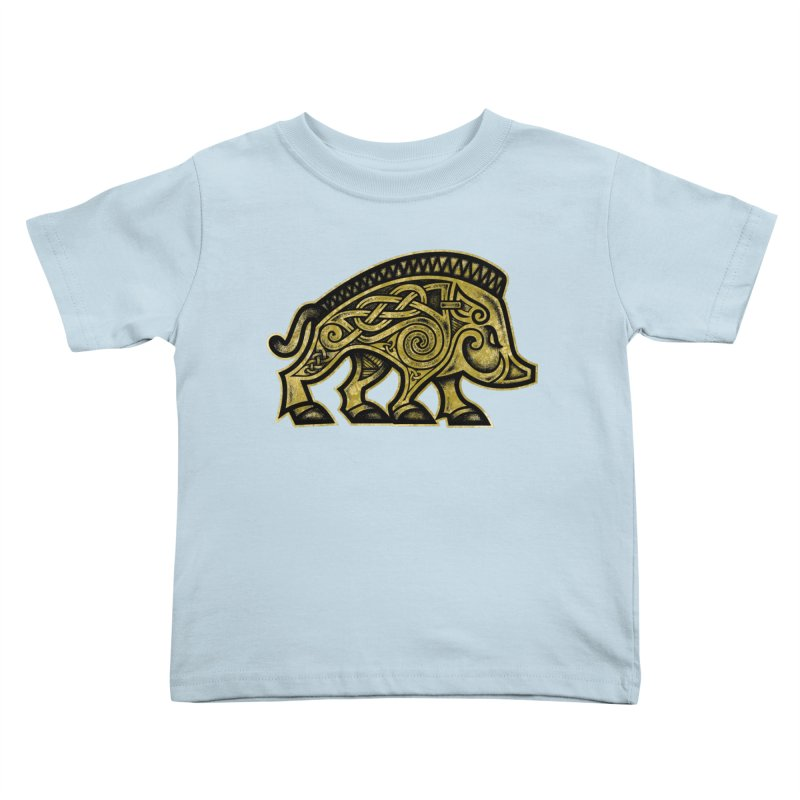 Boar War Pig Kids Toddler T-Shirt by Celtic Hammer Club