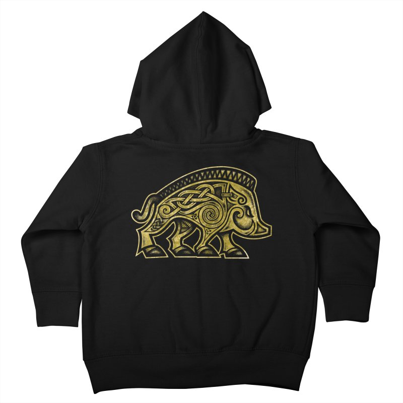 Boar War Pig Kids Toddler Zip-Up Hoody by Celtic Hammer Club