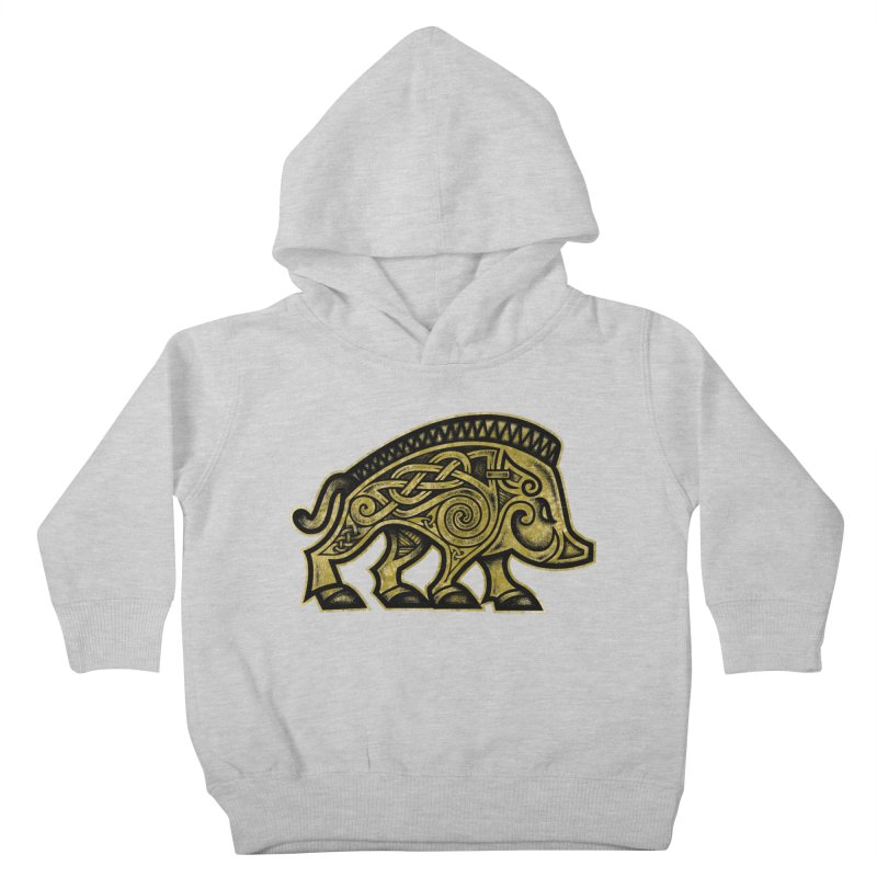 Boar War Pig Kids Toddler Pullover Hoody by Celtic Hammer Club