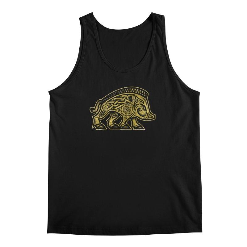 Boar War Pig Men's Regular Tank by Celtic Hammer Club