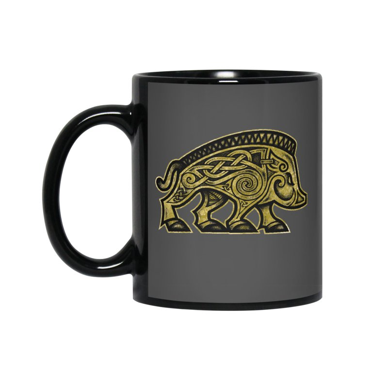 Boar War Pig Accessories Mug by Celtic Hammer Club