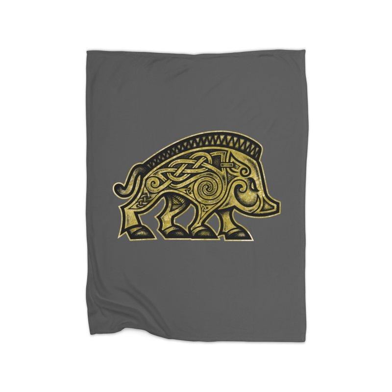Boar War Pig Home Blanket by Celtic Hammer Club
