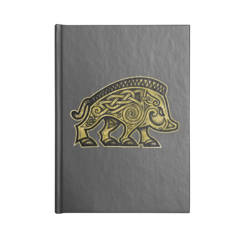 Boar War Pig Accessories Blank Journal Notebook by Celtic Hammer Club