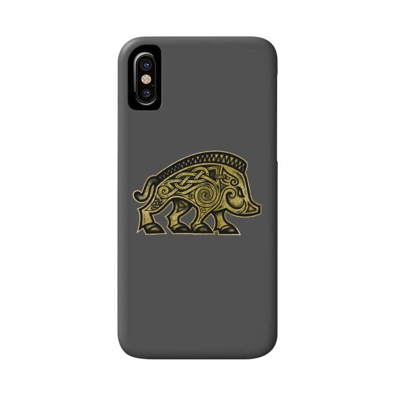 Boar War Pig Accessories Phone Case by Celtic Hammer Club