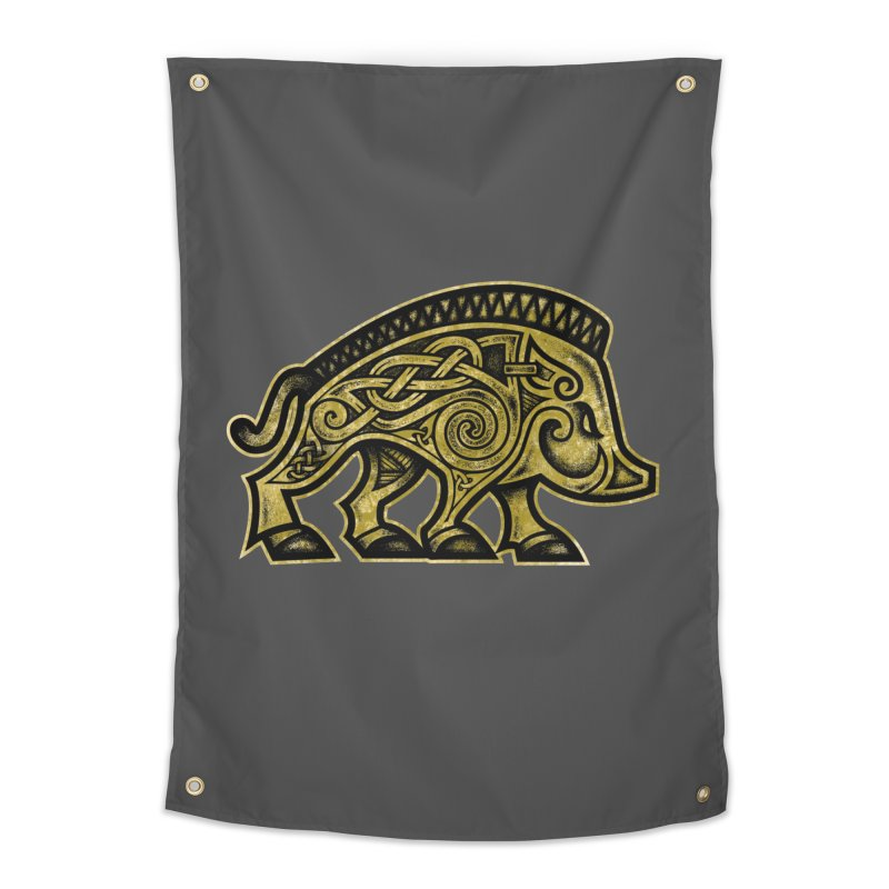 Boar War Pig Home Tapestry by Celtic Hammer Club