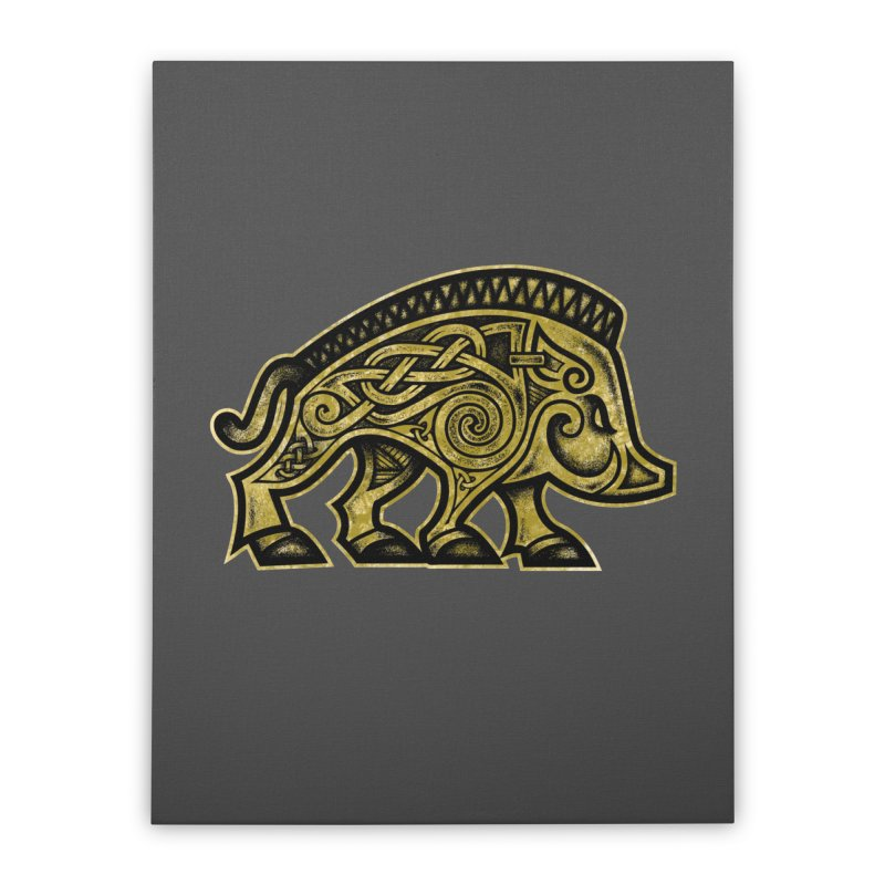 Boar War Pig Home Stretched Canvas by Celtic Hammer Club