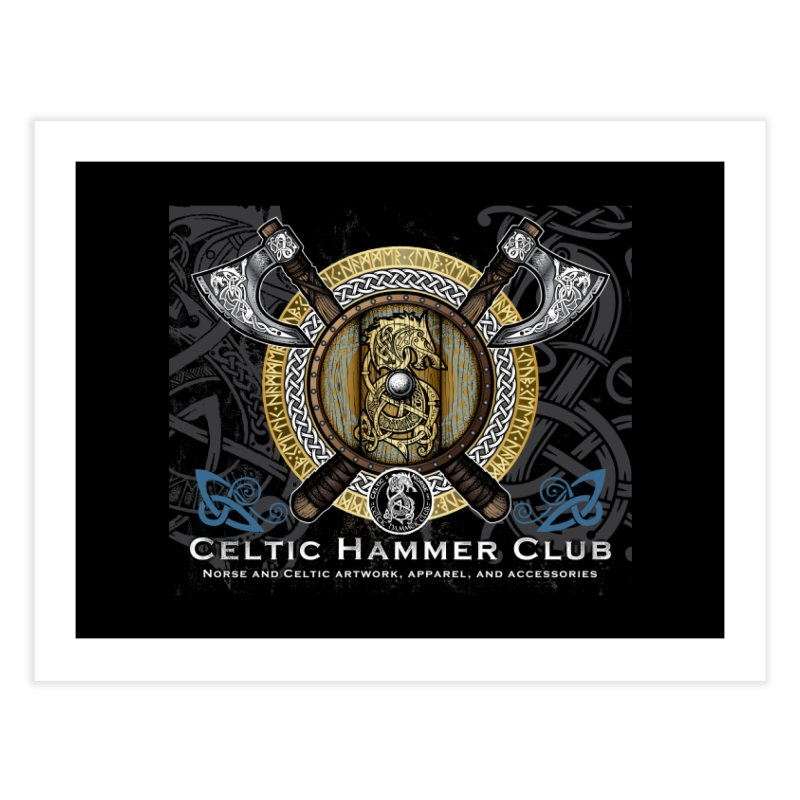 Celtic Hammer Club Banner Home Fine Art Print by Celtic Hammer Club