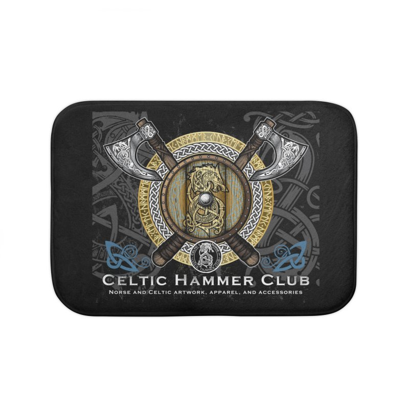 Celtic Hammer Club Banner Home Bath Mat by Celtic Hammer Club