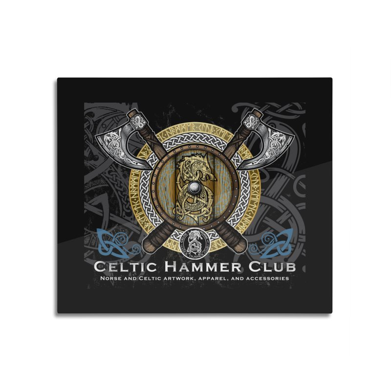 Celtic Hammer Club Banner Home Mounted Aluminum Print by Celtic Hammer Club