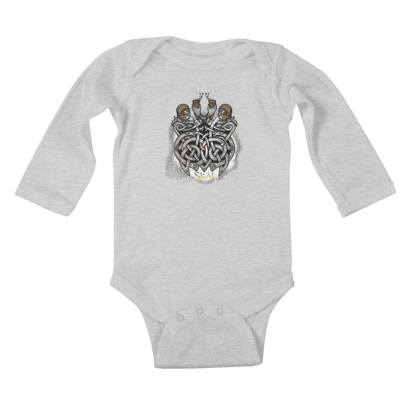 Skál Kids Baby Longsleeve Bodysuit by Celtic Hammer Club