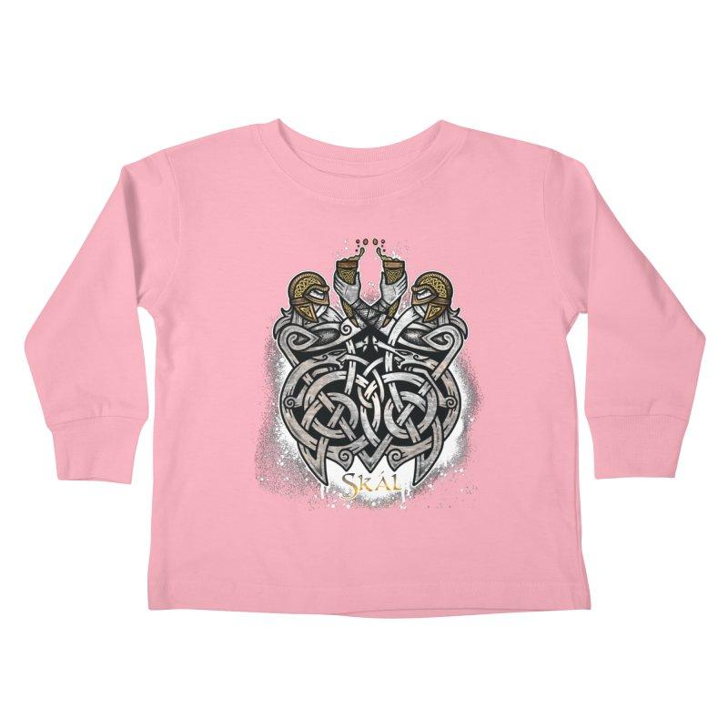 Skál Kids Toddler Longsleeve T-Shirt by Celtic Hammer Club