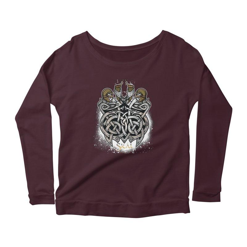 Skál Women's Scoop Neck Longsleeve T-Shirt by Celtic Hammer Club