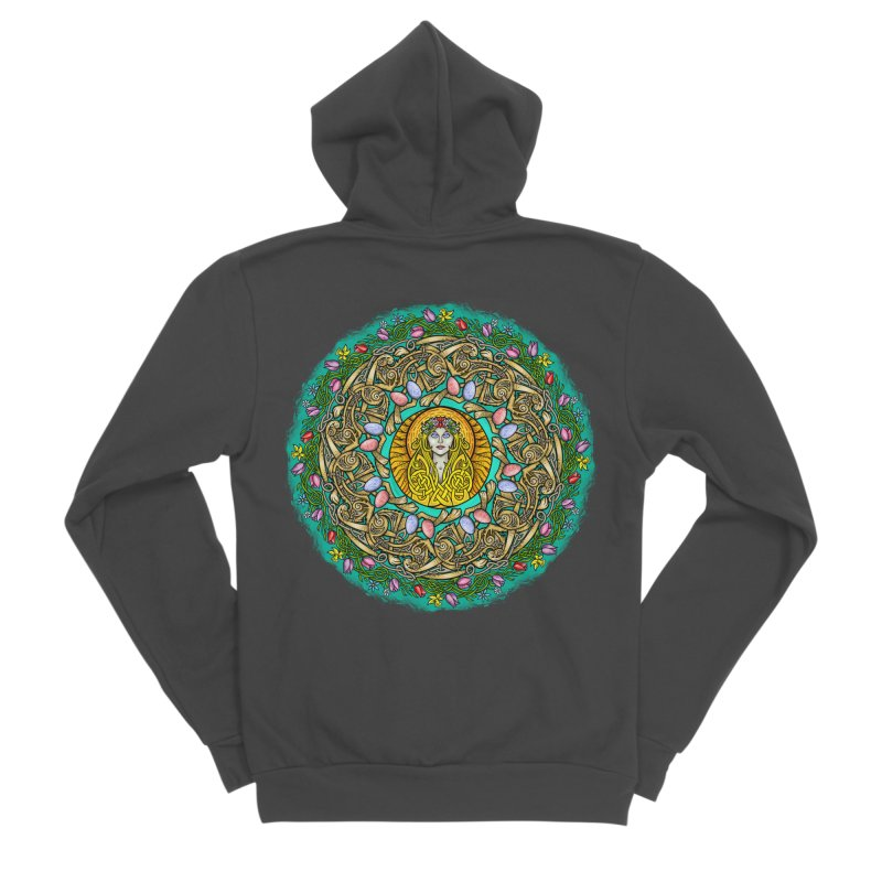 Ēostre Men's Sponge Fleece Zip-Up Hoody by Celtic Hammer Club