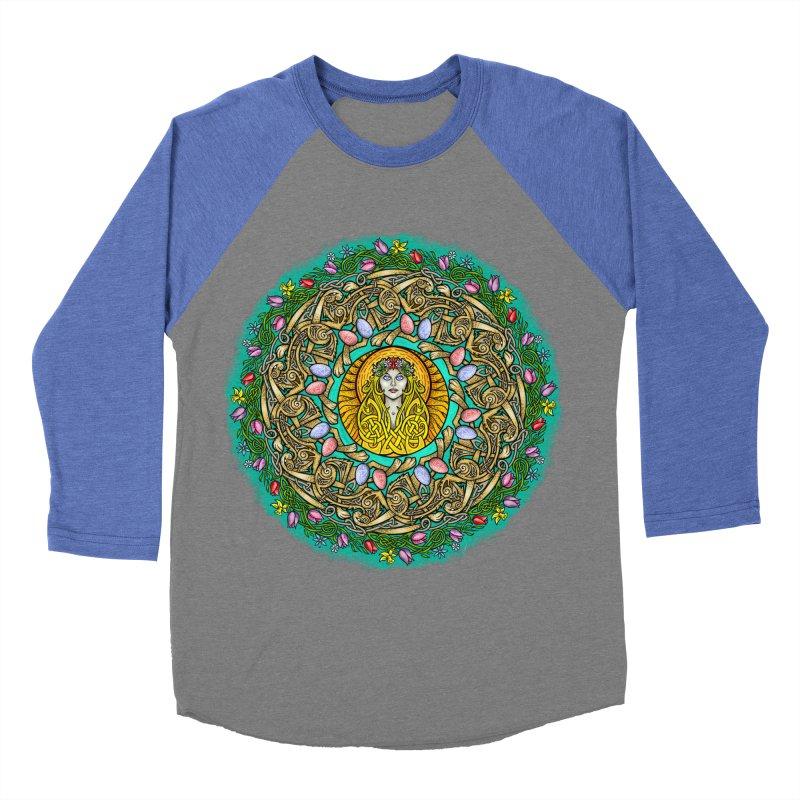 Ēostre Women's Baseball Triblend Longsleeve T-Shirt by Celtic Hammer Club