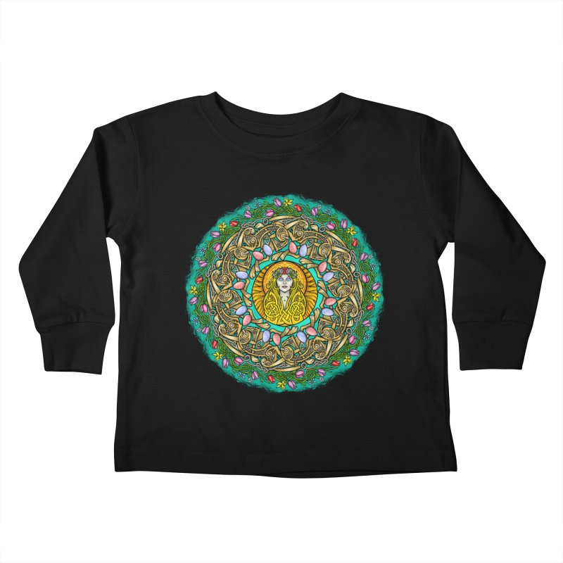 Ēostre Kids Toddler Longsleeve T-Shirt by Celtic Hammer Club