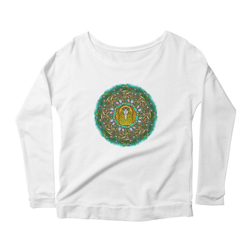 Ēostre Women's Scoop Neck Longsleeve T-Shirt by Celtic Hammer Club