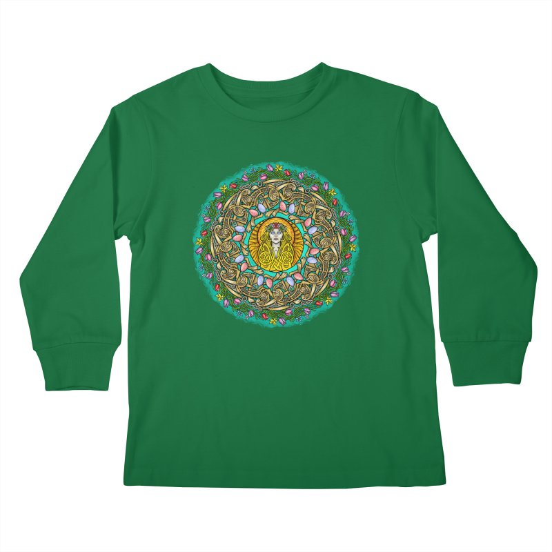 Ēostre Kids Longsleeve T-Shirt by Celtic Hammer Club