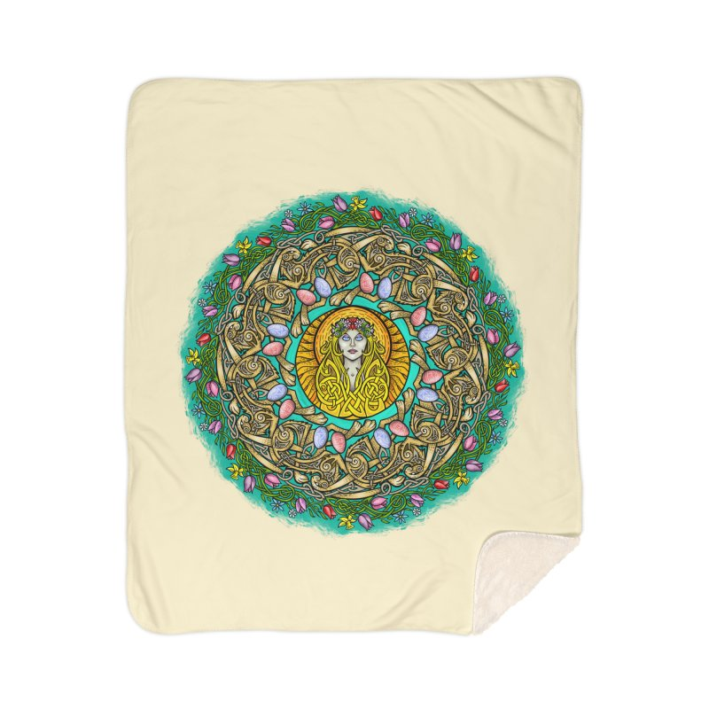 Ēostre Home Sherpa Blanket Blanket by Celtic Hammer Club