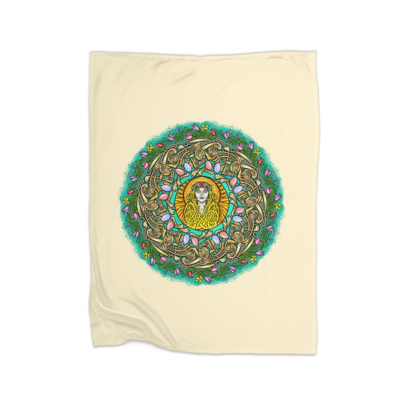 Ēostre Home Fleece Blanket Blanket by Celtic Hammer Club