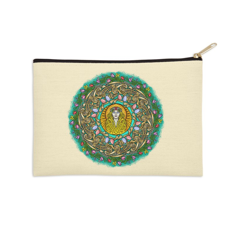 Ēostre Accessories Zip Pouch by Celtic Hammer Club