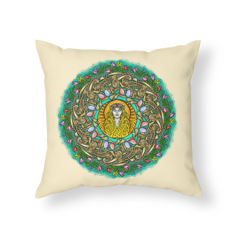Ēostre Home Throw Pillow by Celtic Hammer Club