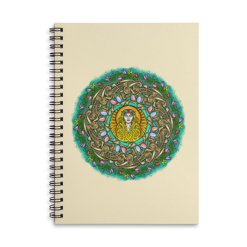 Ēostre Accessories Lined Spiral Notebook by Celtic Hammer Club