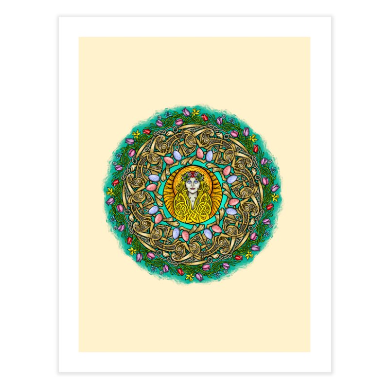 Ēostre Home Fine Art Print by Celtic Hammer Club